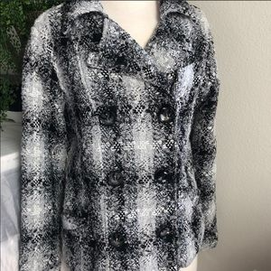NEW!! Black & White Pea Coat